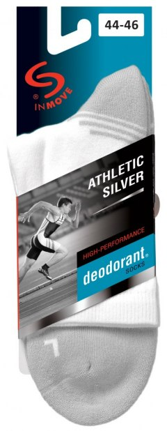 Skarpetki Athletic Silver Deodorant